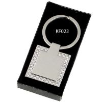 Crown- Diamond Square Key Ring</br>KF023